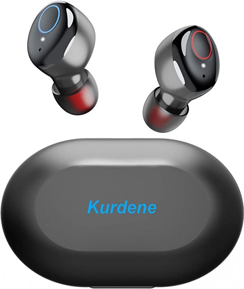 ihocon: Kurdene Bluetooth Earbuds with Charging Case, IPX8 Waterproof 防水真無線耳機, 含充電盒-多色可選