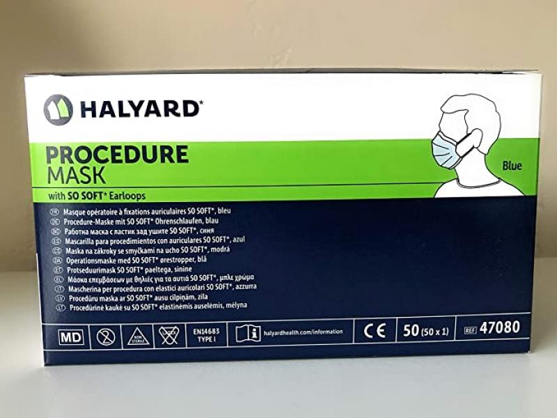 ihocon: Halyard Procedure Medical Health Masks with So Soft Earloops Box of 50 醫用口罩