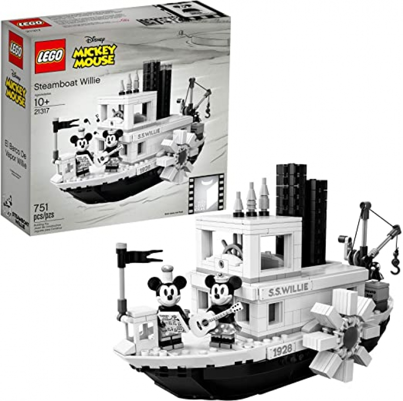 ihocon: LEGO Ideas 21317 Disney Steamboat Willie Building Kit (751 Pieces) 樂高積木迪士尼蒸氣船