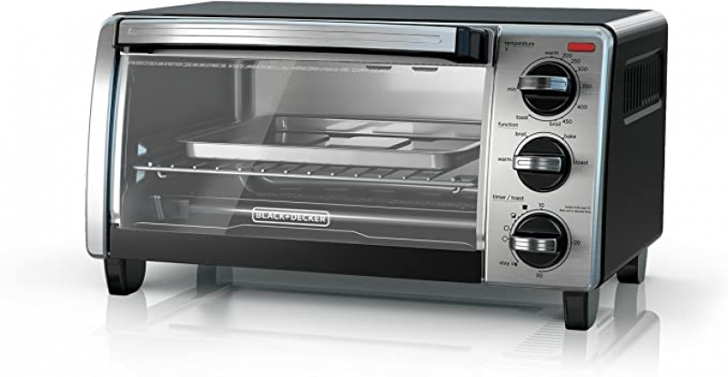 ihocon: BLACK+DECKER 4-Slice Toaster Oven with Natural Convection 小烤箱