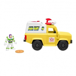 ihocon: Fisher-Price Imaginext Toy Story Buzz Lightyear & Pizza Planet Truck玩具總動員巴斯光年和比薩行星卡車