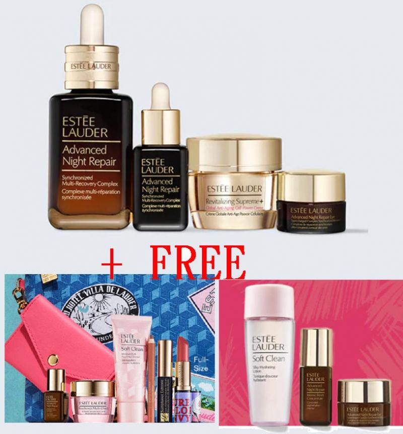 ihocon: Estee Lauder Radiant Skin Repair + Renew 保養精華4件套裝(價值$186)
