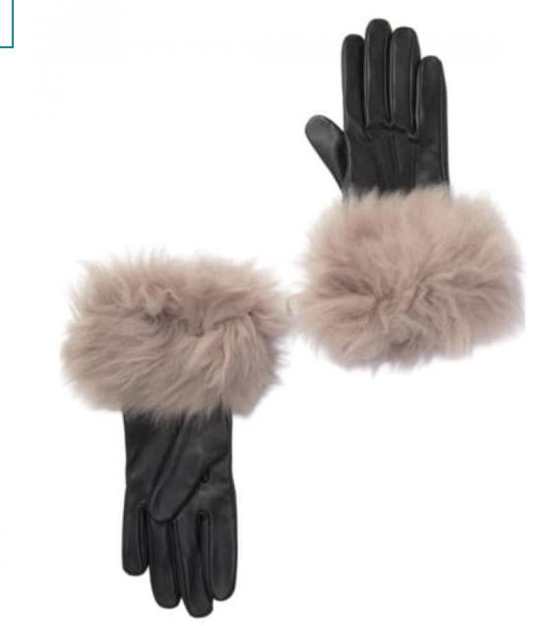 ihocon: UGG Genuine Shearling Trim Leather Gloves 皮手套