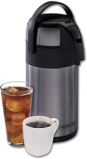 ihocon: Proctor-Silex 40410 Thermal Airpot Hot Coffee/Cold Beverage Dispenser, 2.5 Liter, Stainless Steel 不銹鋼保温熬水瓶