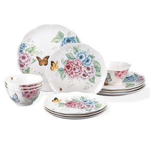 ihocon: Lenox 12 Piece Butterfly Meadow Hydrangea Set, White 餐盤組