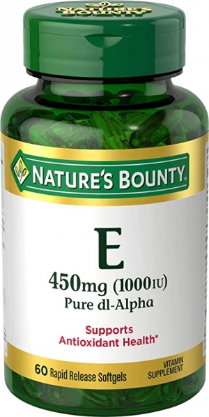 ihocon: Vitamin E by Nature's Bounty,  Supports Immune Health & Antioxidant Health, 1000IU, 60 Softgels