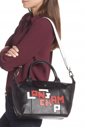 ihocon: LONGCHAMP Small Le Pliage Logo Leather Tote 包包