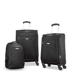 ihocon: Samsonite Tenacity 3 Piece Luggage Set - Black, Blue, 25, 21, Backpack行李箱組