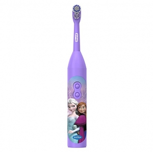 ihocon: Oral-B Pro-Health Jr. Battery Powered Kid's Toothbrush featuring Disney's Frozen, Soft, 1ct兒童電動牙刷(使用電池)