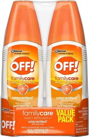 ihocon: OFF! Family Care Insect & Mosquito Repellent, Unscented with Aloe-Vera, 7% Deet 6 oz, (Pack of 2) 驅蚊/蟲噴霧