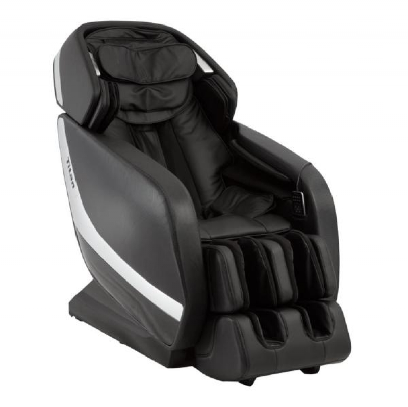 ihocon: TITAN Pro Jupiter XL Series Black Faux Leather Reclining Massage Chair with 3D L-Track, Bluetooth Speakers, XL Height Capacity 全身加熱按摩椅,內建藍牙喇叭