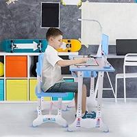 ihocon: YuyuTangFu Kids Functional Desk and Chair Set可調高度兒童桌椅
