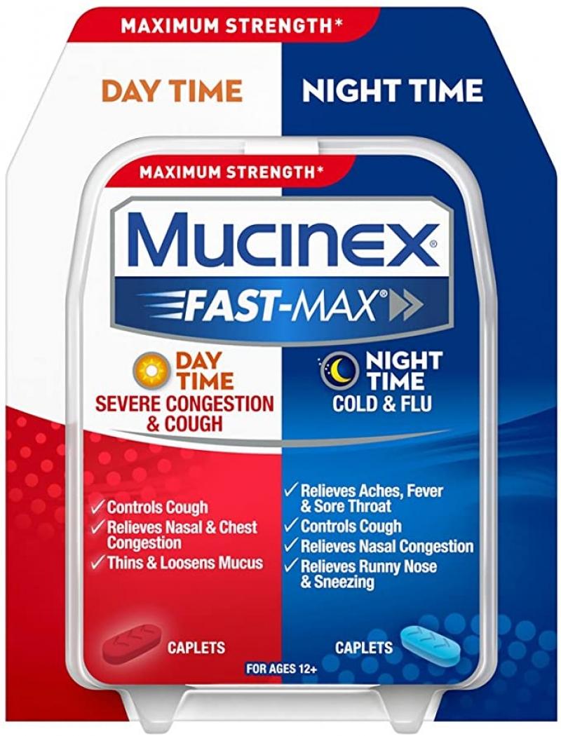 ihocon: Mucinex Fast-Max Day/Night Severe Congestion & Cough Caplets, 30ct  白天/夜晚嚴重咳嗽藥