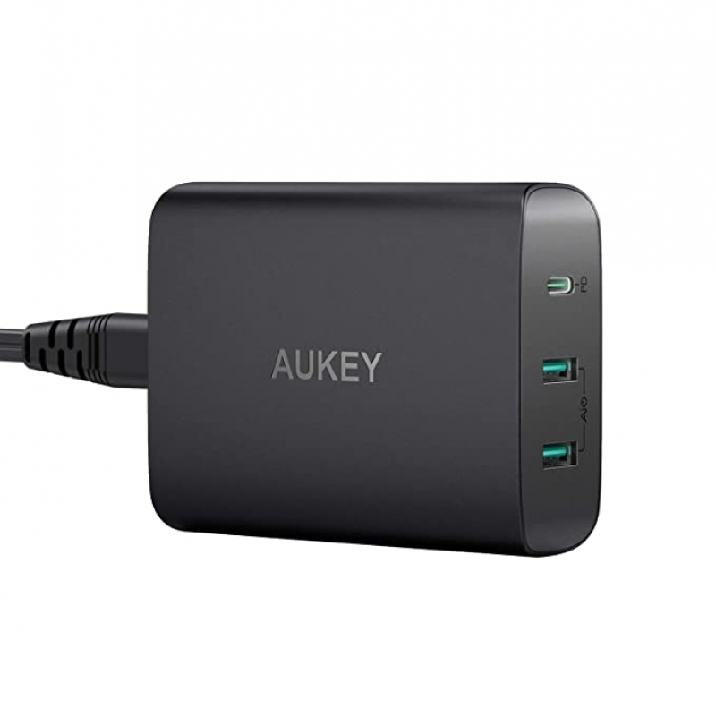 ihocon: USB C Charger AUKEY iPhone Fast Charger 72W 3-Port 快速充電器