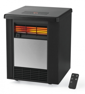 ihocon: Mainstays 4 Element Infrared Quartz Space 1500W Heater,Indoor,Black,DF1911電暖爐