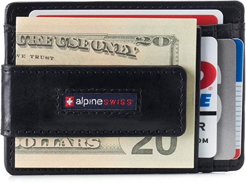 Alpine Swiss RFID 男士真皮錢夾 $14.99(原價$17.99)
