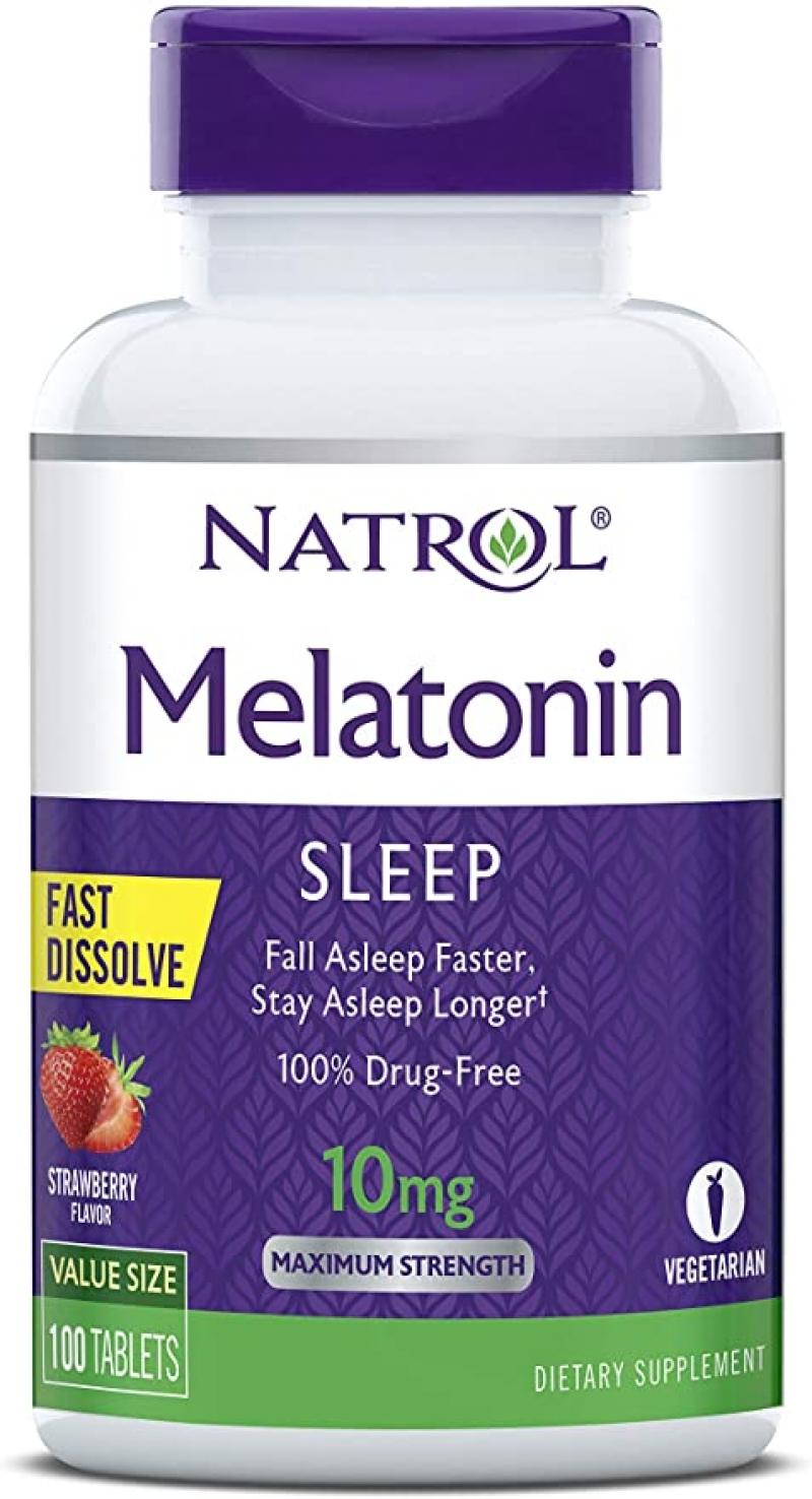 [幫助睡眠] Natrol Melatonin 快速溶解褪黑素 10mg 100粒 2瓶 $16.08, 算起來1瓶才$8.04(原價1瓶 $14.99)