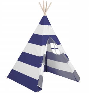 ihocon: Best Choice Product 6ft Kids Pretend Cotton Teepee Play Tent w/ Mesh Window, Carrying Case 兒童遊戲帳, 含收納袋 - 多色可選