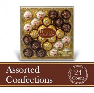 ihocon: Ferrero Rocher Fine Hazelnut Milk Chocolates, 24 Count金莎巧克力