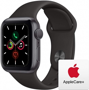 ihocon: Apple Watch Series 5 (GPS, 40mm) - Space Gray Aluminum Case with Black Sport Band with AppleCare+ Bundle