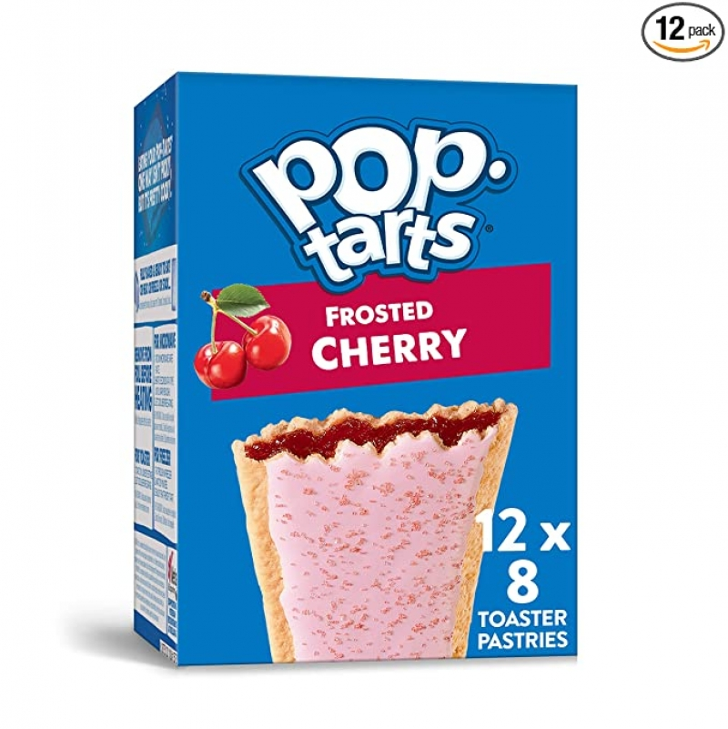 ihocon: Pop-Tarts Frosted Cherry Breakfast Toaster Pastries, 13.5 Oz(Pack of 12)