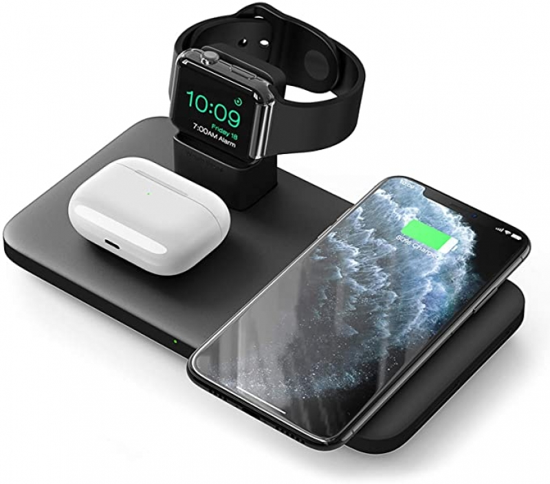 ihocon: Seneo 3 in 1 Wireless Charger for AirPods, Apple Watch, iPhone 無線充電器