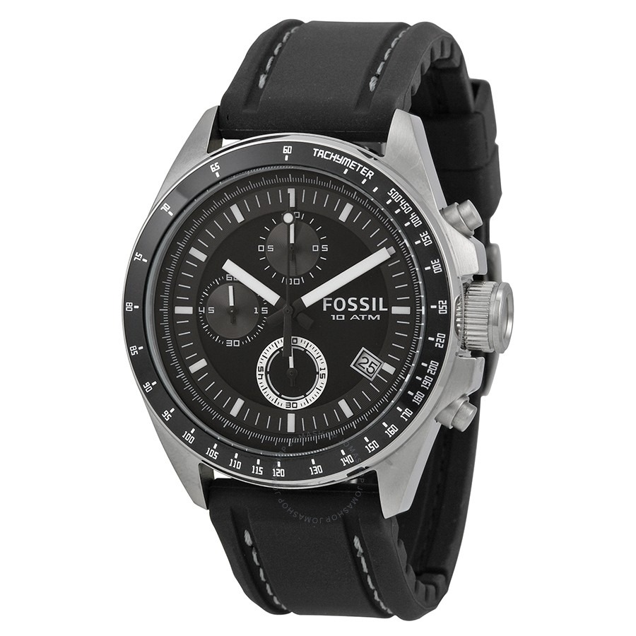 ihocon: Fossil Dexter Black Dial Chronograph Men's Watch  計時男錶