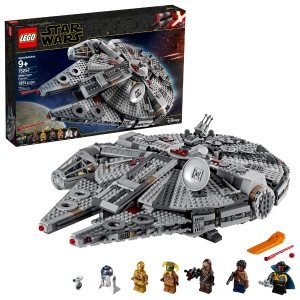 ihocon: 樂高星球大戰 LEGO Star Wars: The Rise of Skywalker Millennium Falcon 75257 Starship Model Building Kit and Minifigures (1,351 Pieces)
