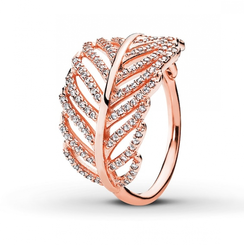 ihocon: PANDORA Rose Ring Light as a Feather 潘朵拉戒指