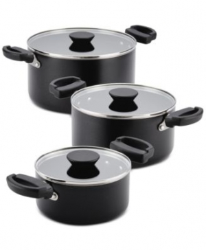 ihocon: Farberware Neat Nest 6-Pc. Non-Stick Saucepot Set不粘鍋組