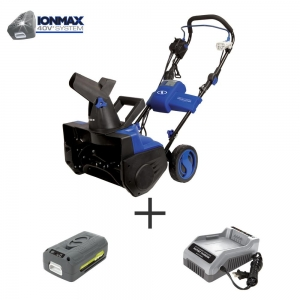 ihocon: Snow Joe 18 in. 40-Volt Single-Stage Hybrid Cordless Electric Snow Blower Kit with 4.0 Ah Battery + Charger無線電動鏟雪機含電池及充電器