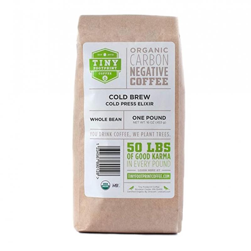 ihocon: Tiny Footprint Coffee - Organic Cold Brew Cold Press Elixir   Whole Bean Coffee, 16 Ounce 有機冷泡咖啡豆