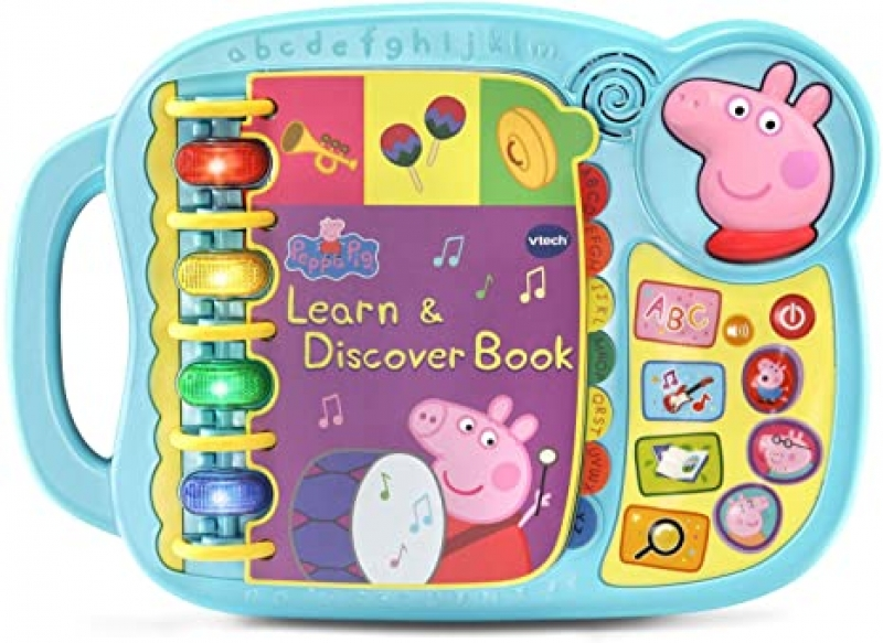 ihocon: VTech Peppa Pig Learn and Discover Book 幼兒學習/發現聲光玩具
