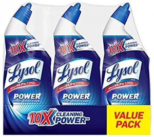ihocon: Lysol Lysol Power Toilet Bowl Cleaner, 10x Cleaning Power, 3 Count  馬桶清潔劑