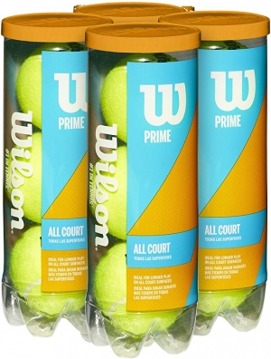 ihocon: Wilson Prime All Court Tennis Balls 4 Pack (12 Balls) 網球