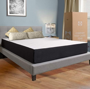 ihocon: Sealy 10吋 Hybrid Bed in a Box, Adaptive Comfort Layers, Medium-Firm Feel, Memory Foam Mattress, Queen 彈簧/記憶棉床墊