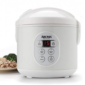 ihocon: Aroma Housewares 8-Cup Digital Rice Cooker (White)電飯鍋