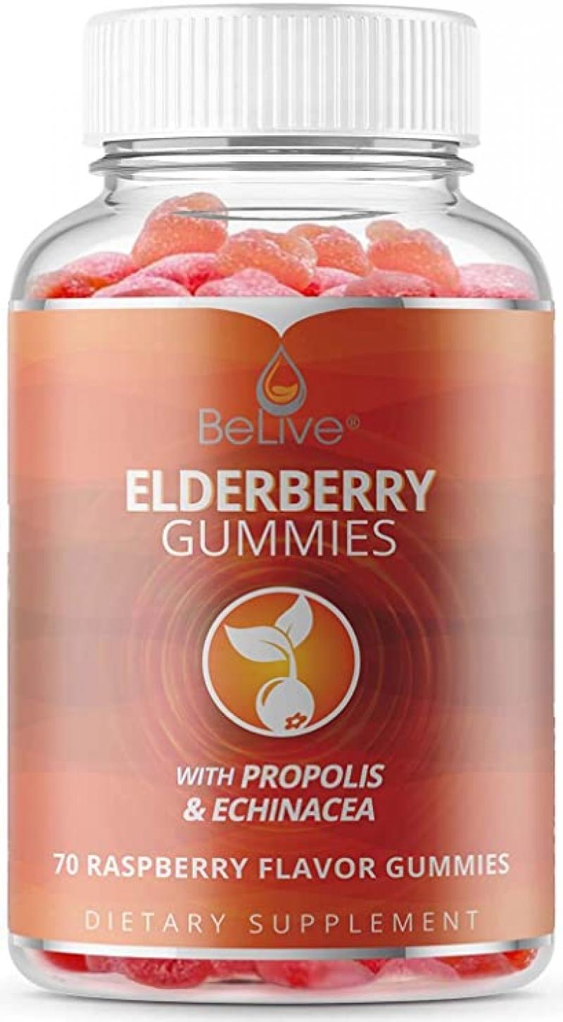 ihocon: [增強免疫力] BeLive Chewable Elderberry Gummies with Vitamin C (70 Count) 接骨木軟糖