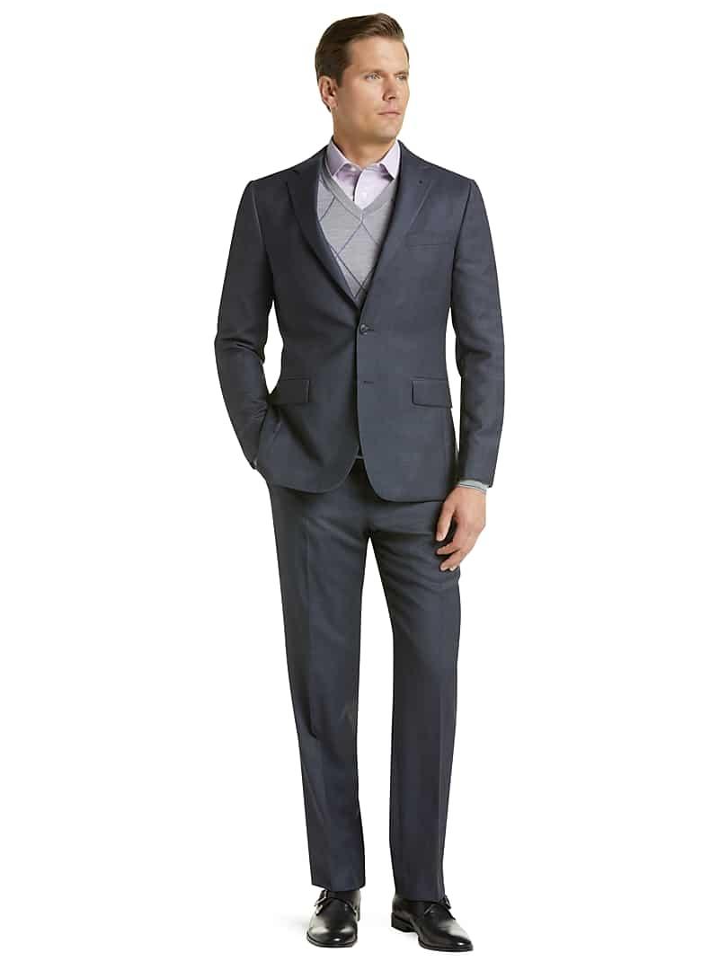 ihocon: Traveler Collection Slim Fit Tic Weave Suit CLEARANCE 男士西服一套
