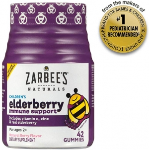 ihocon: [強化免疫力]Zarbee's Naturals Children's Elderberry Immune Support* with Vitamin C & Zinc, Natural Berry Flavor, 42 Gummies 兒童木漿果免疫力增強維他命軟糖