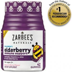 ihocon: [強化免疫力]Zarbee's Naturals Children's Elderberry Immune Support* with Vitamin C & Zinc, Natural Berry Flavor, 42 Gummies 兒童木漿果免疫力增強維他命軟糖