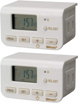 ihocon: Woods 50007WD Indoor 24-Hour Digital Plug-In Timer, 2 Pack 定時器