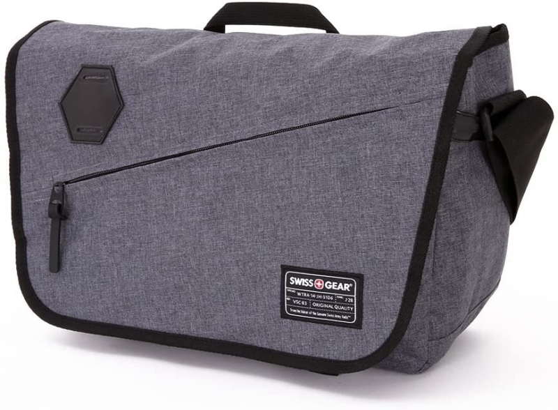 ihocon: SwissGear SA5320 16.5 Grey Heather Messenger Bag