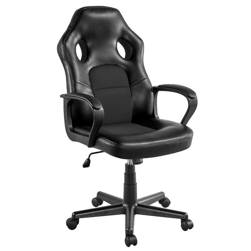 ihocon: SmileMart Faux Leather Adjustable Swivel Gaming Chair 電腦椅/辦公椅