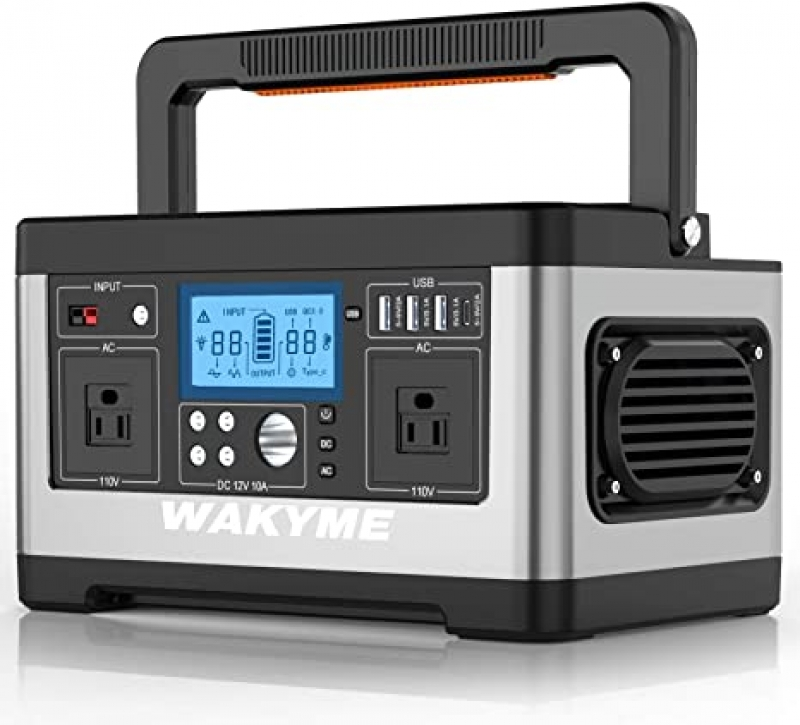 ihocon: Wakyem 520Wh Portable Power Station with  140400mAh, 110V AC Outlet 便攜儲電器/行動電源