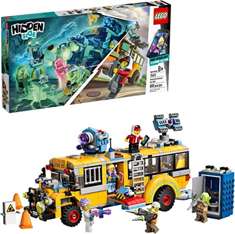 ihocon: 樂高積木LEGO Hidden Side Paranormal Intercept Bus 3000 70423 Augmented Reality (AR) Building Kit with Toy Bus, Toy App allows for endless Creative Play with Ghost Toys and Vehicle (689 Pieces)