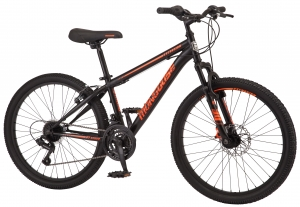 ihocon: Mongoose Excursion Mountain Bike, Boys', 24吋, Black/Orange