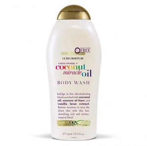 ihocon: OGX Extra Creamy + Coconut Miracle Oil Ultra Moisture Body Wash, 19.5 Ounce 椰子油超保濕沐浴乳