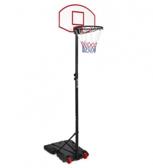 ihocon: Best Choice Products Kids Portable Height-Adjustable Basketball Hoop System Stand - Black 可調高度籃球架