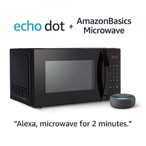 ihocon: AmazonBasics Microwave with Echo Dot (3rd Gen.) - Charcoal 微波爐